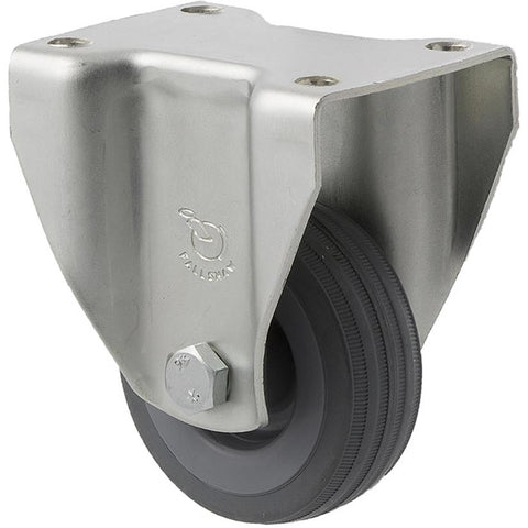 KSA65/KZF 50 Kg Zinc Castor <span>Fixed Grey Rubber 65mm x 23mm</span>