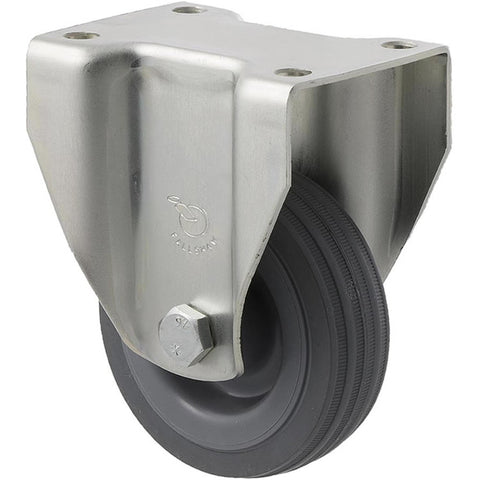 KSA75/KZF 50 Kg Zinc Castor <span>Fixed Grey Rubber 75mm x 23mm</span>