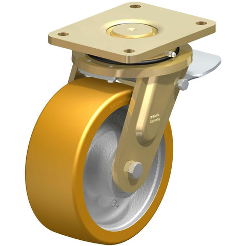 GTH202 - LS-GTH202K-ST <span>1600 Kg Swivel Plate 200mm Polyurethane Total Brake</span>