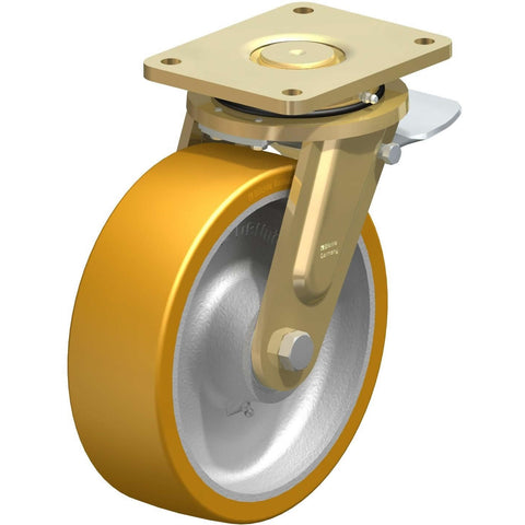 GTH252 - LS-GTH252K-ST <span>1800 Kg Swivel Plate 250mm Polyurethane Total Brake</span>