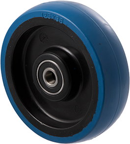 MBQ125G <span>150 Kg 125mm Blue Rubber</span>
