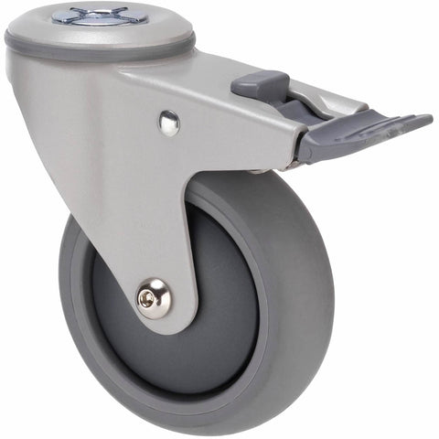 MJQ100GGH - MJQ100G/MPHTBGH <span>85 Kg Bolt-Hole Total Brake 100mm Grey TPE w/ Graphite Thread Guard</span>