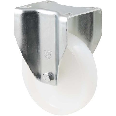 MNN125W/MZF <span>150 Kg Fixed Plate 125mm White Nylon</span>