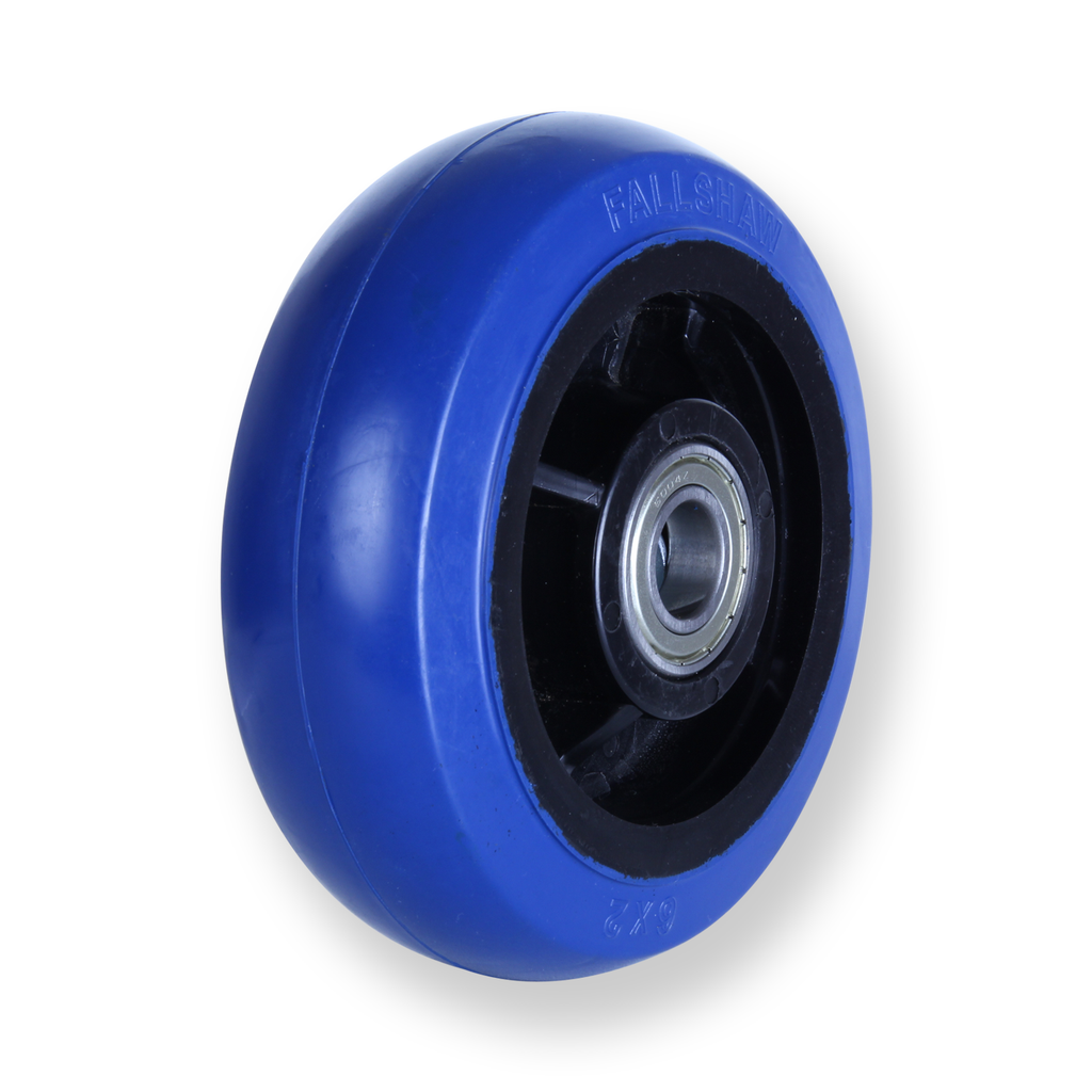 OBQ150 360 Kg Blue Rubber Wheel