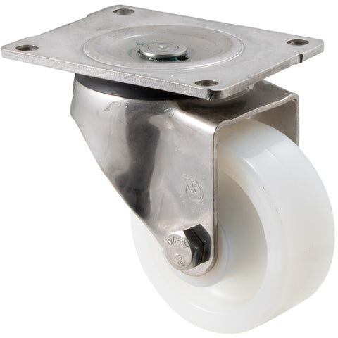 ONA100WS/OSP <span>350 Kg Stainless Steel Swivel Plate 100mm White Nylon</span>
