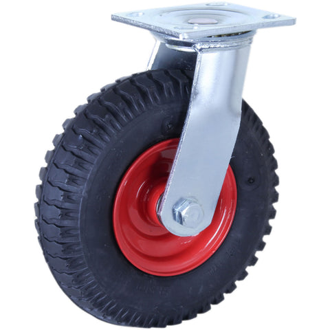 PZN250X4-FS <span>75 Kg Swivel Plate 220mm Black MCP Puncture-Proof</span>