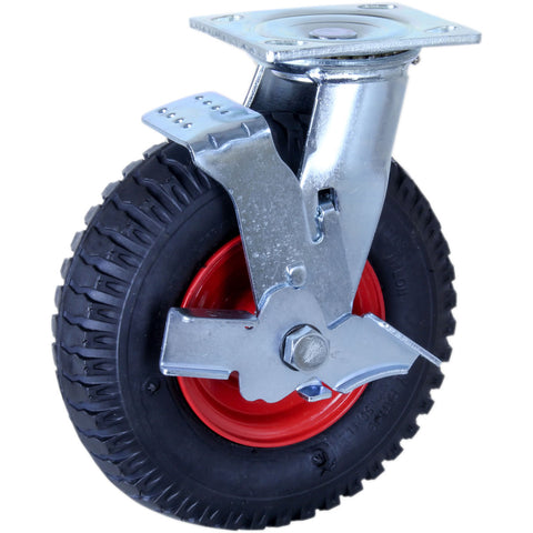 PZNW250X4-FS <span>75 Kg Swivel Plate Brake 220mm Black MCP Puncture-Proof</span>