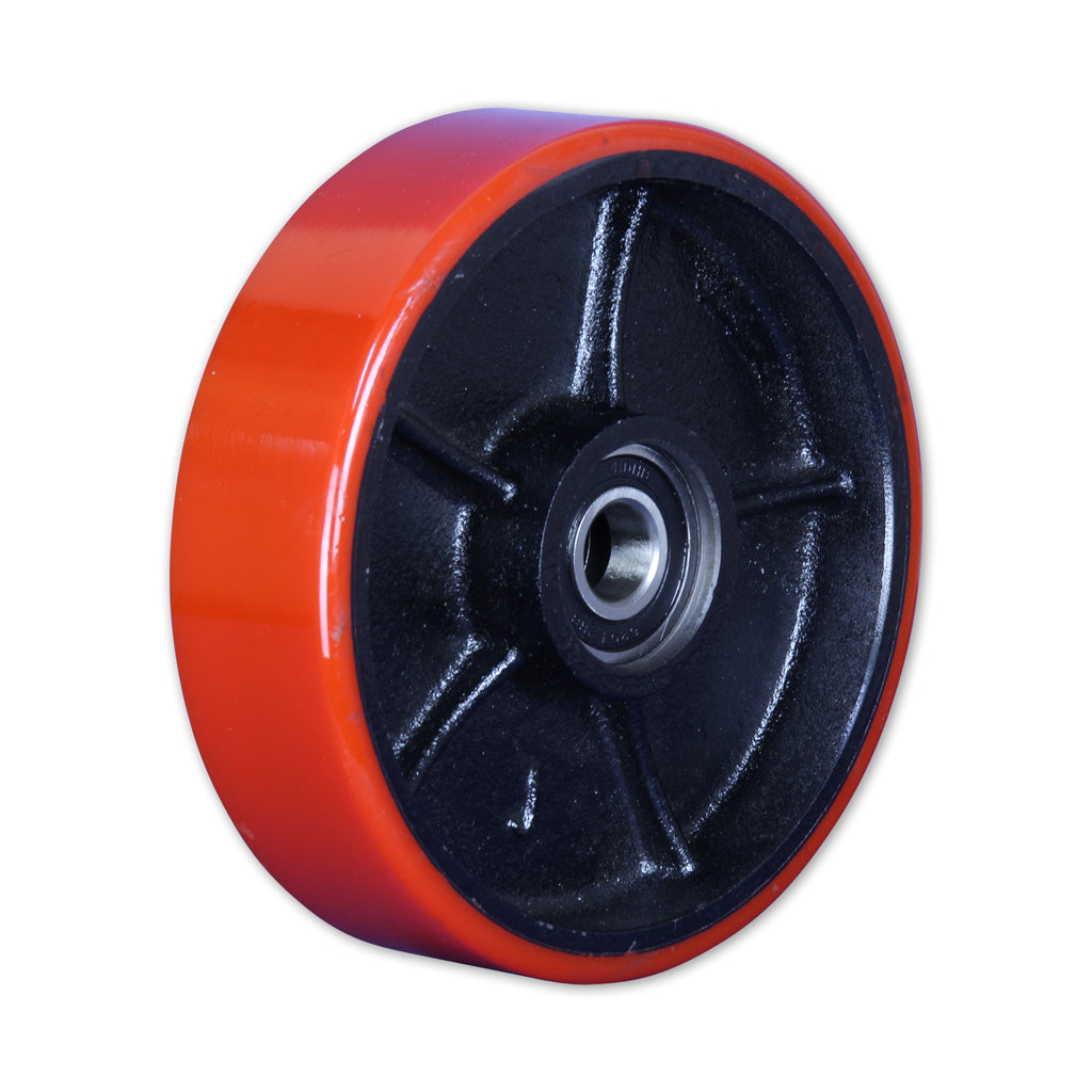 Pallet Truck Poly Steer Wheel 500 Kg Red / Cast Iron