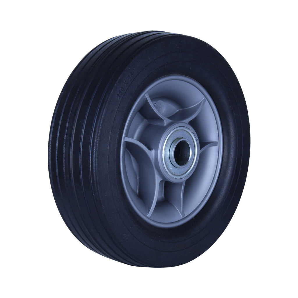 R250/75C-PRWB10 180 Kg <span>Black Rubber Wheel</span>