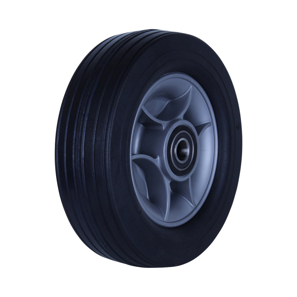 R250/75C-PRWQ58 180kg Black Rubber Wheel
