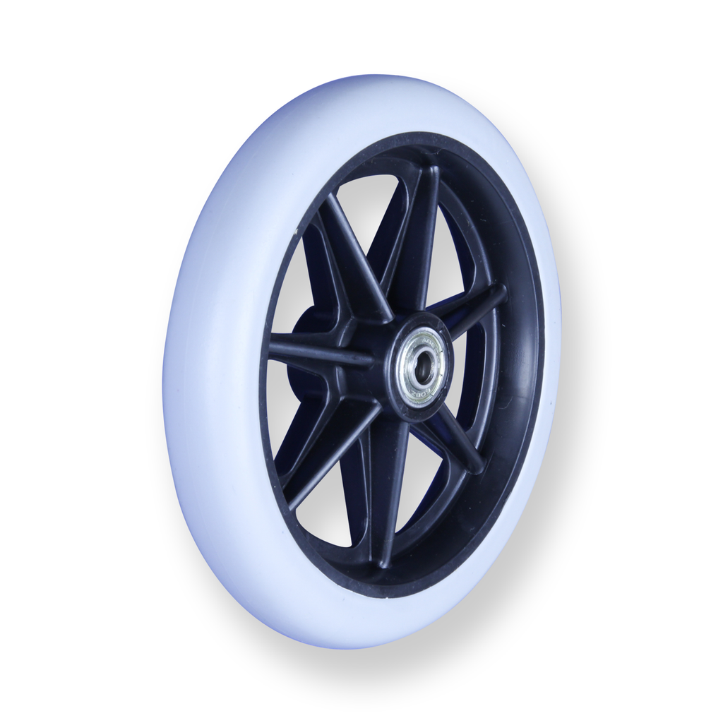 REX 6 Inch X 1 Inch 8MM 30 Kg Grey Rubber Wheel