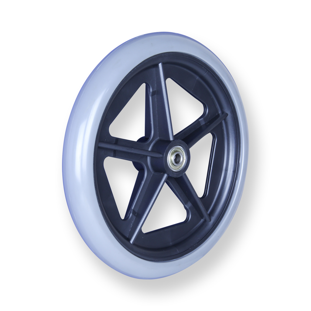 REX 8 Inch X 1 Inch WHEEL 30kg Grey Rubber Wheel