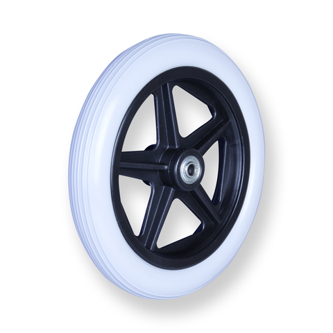 REX 8 Inch X 1.25 Inch 8MM 30 Kg Grey Rubber Wheel