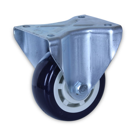 SZR12550-UPB 400kg Zinc Castor <span>Fixed N/A P/U on Polyprop 125mm x 50mm</span>
