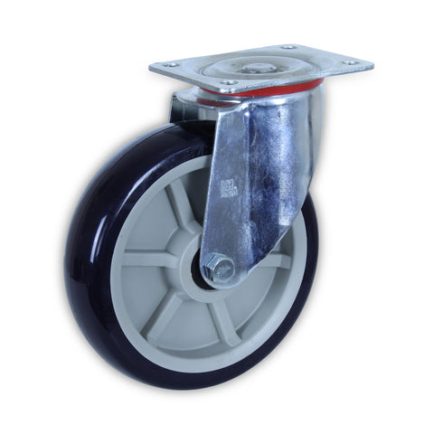 SZS20050-UPB 500kg Zinc Castor <span>Swivel N/A P/U on Polyprop 200mm x 50mm</span>