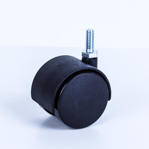 TW50-5/16 40 Kg Black Plastic Castor <SPAN>Swivel Black Nylon 2x 50mm x 12mm</span>
