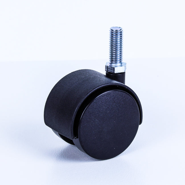 TW50-M10 40 Kg Black Plastic Castor <SPAN>Swivel Black Nylon 2x 50mm x 12mm</span>