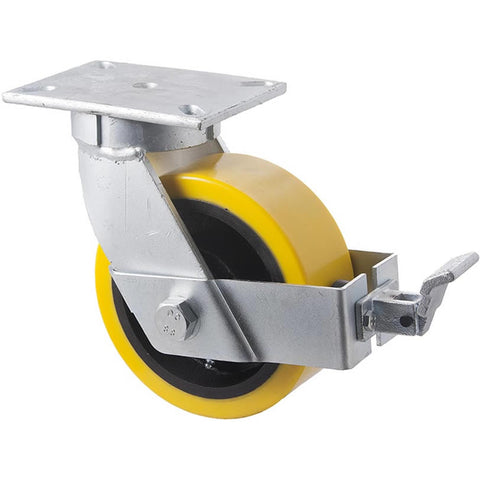 VUQ200/VZPBR <span>2000 Kg Swivel Plate Brake 200mm Polyurethane</span>
