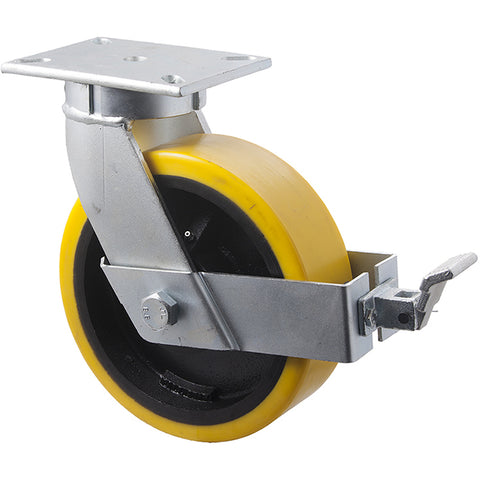 VUQ250/VZPBR <span>2000 Kg Swivel Plate Brake 250mm Polyurethane</span>
