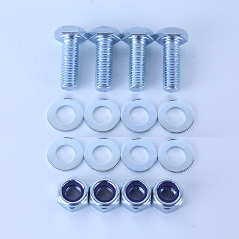 M10X30 Set Screw + Flat Washer + Nyloc Nut Pack of 4 each to suit Plate Mount Castors