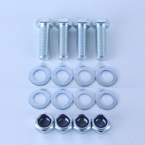 M12X40 Set Screw + Flat Washer + Nyloc Nut Pack of 4 each to suit Plate Mount Castors