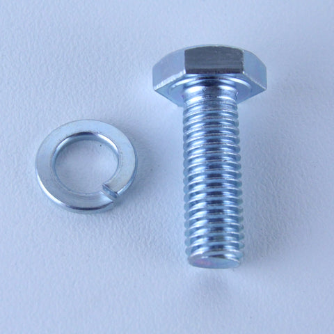 M10X30 Set Screw + Spring Washer <SPAN>Pack of 1 each to suit Bolt-Hole Castors</SPAN>