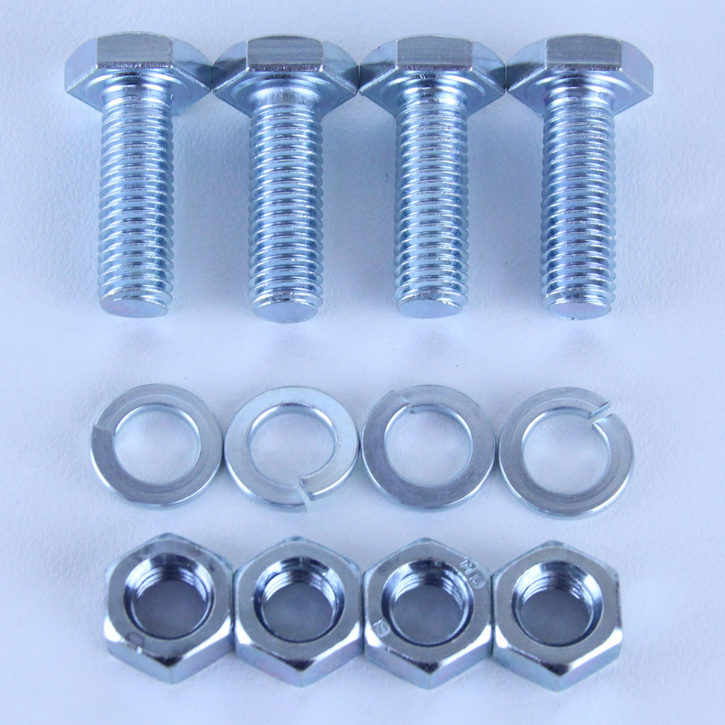 M10X30 Set Screw + Spring Washer + Plain Nut <SPAN>Pack of 4 each to suit Plate Mount Castors</SPAN>