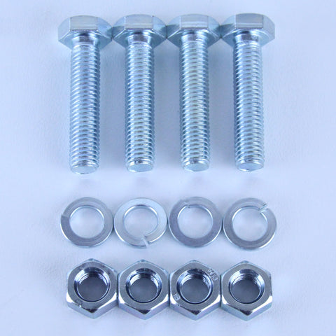 M10X45 Set Screw + Spring Washer + Plain Nut Pack of 4 each to suit Plate Mount Castors