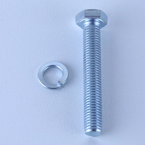 M10X65 Set Screw + Spring Washer Pack of 1 each to suit Bolt-Hole Castors