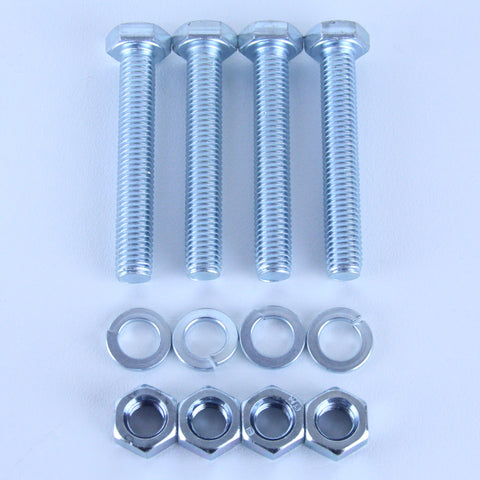 M10X65 Set Screw + Spring Washer + Plain Nut Pack of 4 each to suit Plate Mount Castors