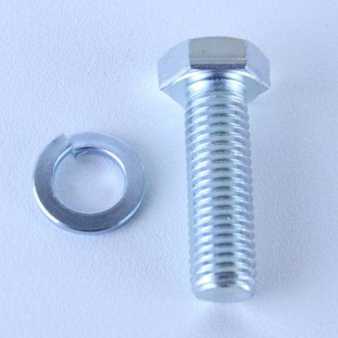 M12X40 Set Screw + Spring Washer <SPAN>Pack of 1 each to suit Bolt-Hole Castors</SPAN>