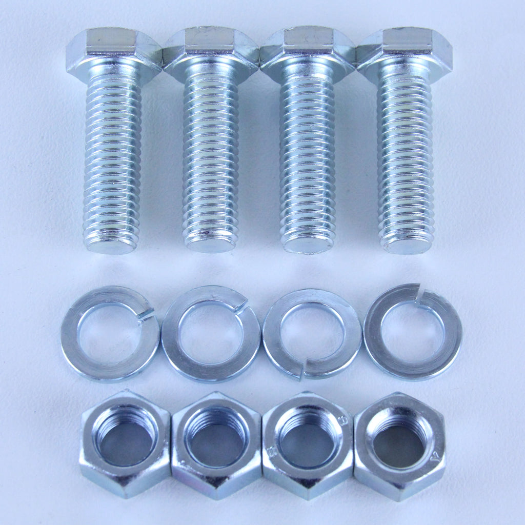 M12X40 Set Screw + Spring Washer + Plain Nut <SPAN>Pack of 4 each to suit Plate Mount Castors</SPAN>