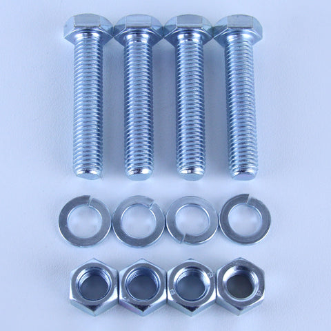 M12X60 Set Screw + Spring Washer + Plain Nut <SPAN>Pack of 4 each to suit Plate Mount Castors</SPAN>