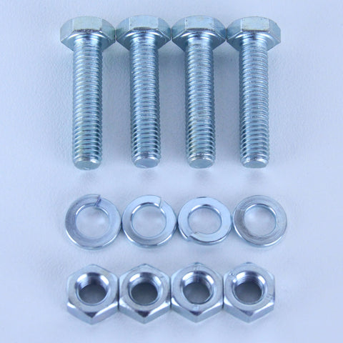 M8X35 Set Screw + Spring Washer + Plain Nut <SPAN>Pack of 4 each to suit Plate Mount Castors</SPAN>
