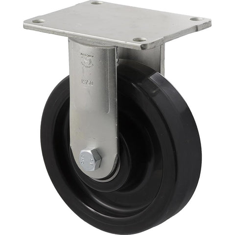 WNQ150/HZF H SERIES <span>600 Kg Fixed Plate 150mm Black Nylon</span>