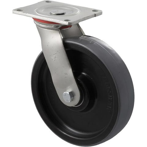 WUQ200/HZP H SERIES <span>600 Kg Swivel Plate 200mm Polyurethane</span>