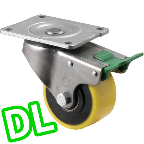 XUQ100/OZPDL <span>450 Kg Swivel Plate <strong>Direction Lock Only</strong> 100mm Polyurethane</span>