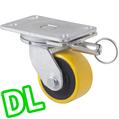 XUQ100/XZPDL <span>600 Kg Swivel Plate <strong>Direction Lock Only</strong> 100mm Polyurethane</span>