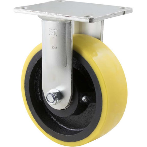 XUQ150/HZF H SERIES <span>600 Kg Fixed Plate 150mm Polyurethane</span>