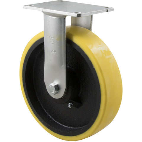XUQ200/HZF H SERIES <span>600 Kg Fixed Plate 200mm Polyurethane</span>