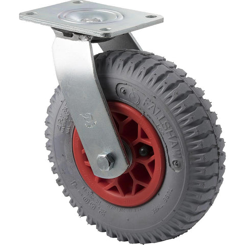 YLGG250/YZP <span>100 Kg Swivel Plate 220mm Grey Rubber Pneumatic</span>