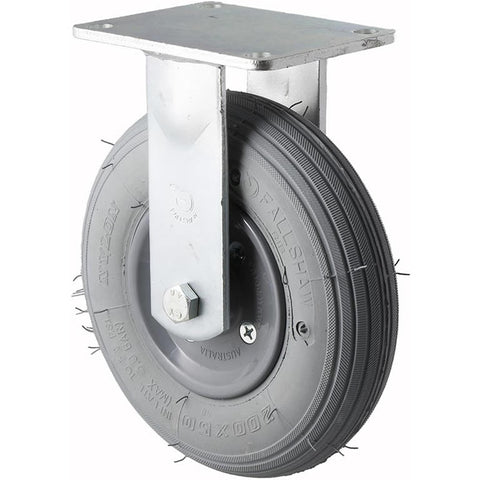 YRIB200/YZF <span>75 Kg Fixed Plate 200mm Grey Rubber Pneumatic</span>