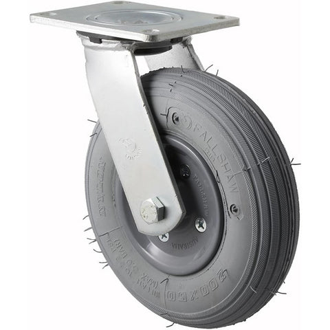 YRIB200/YZP <span>75 Kg Swivel Plate 200mm Grey Rubber Pneumatic</span>