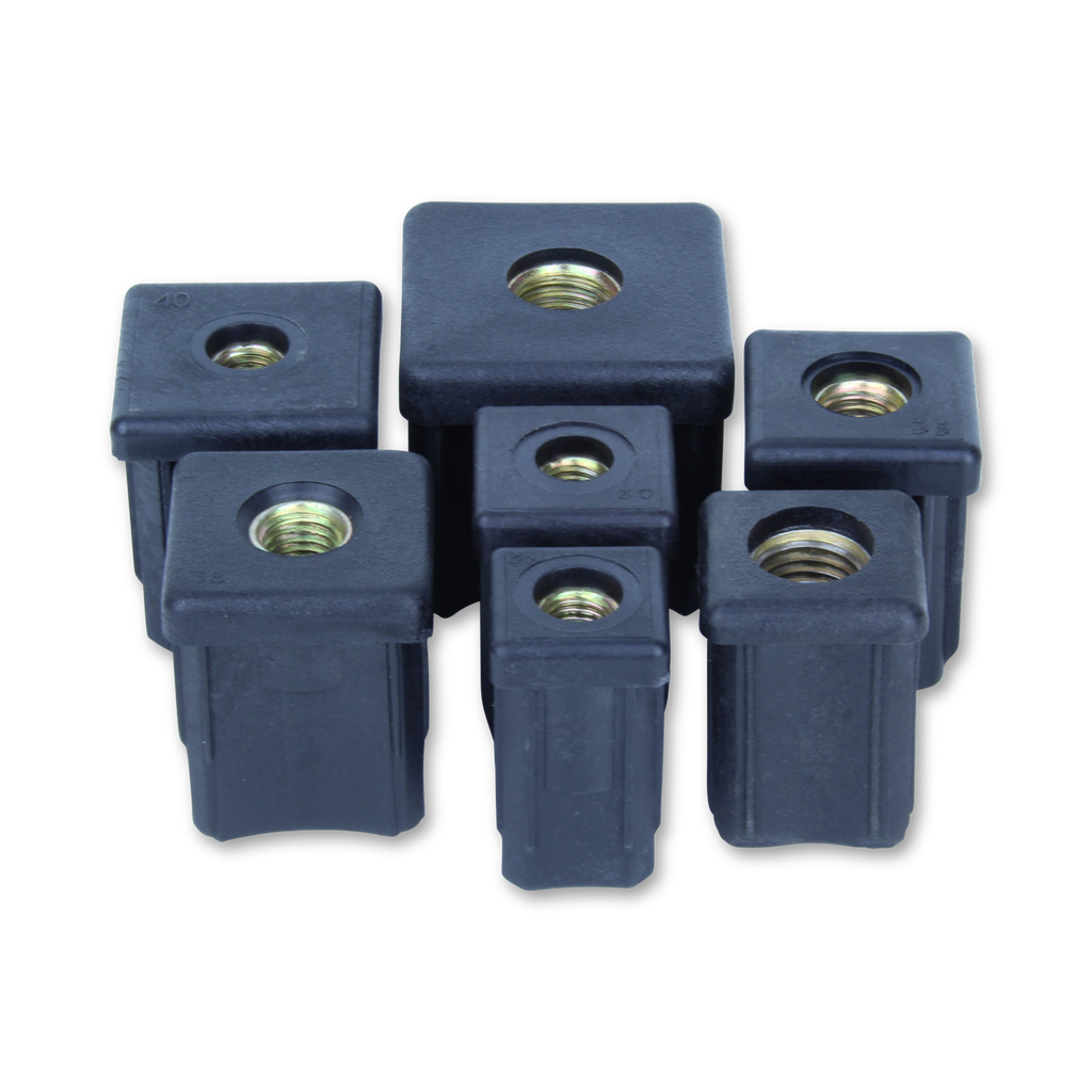 10/30/M10 30mm x 30mm Square M/S Threaded Tube Insert