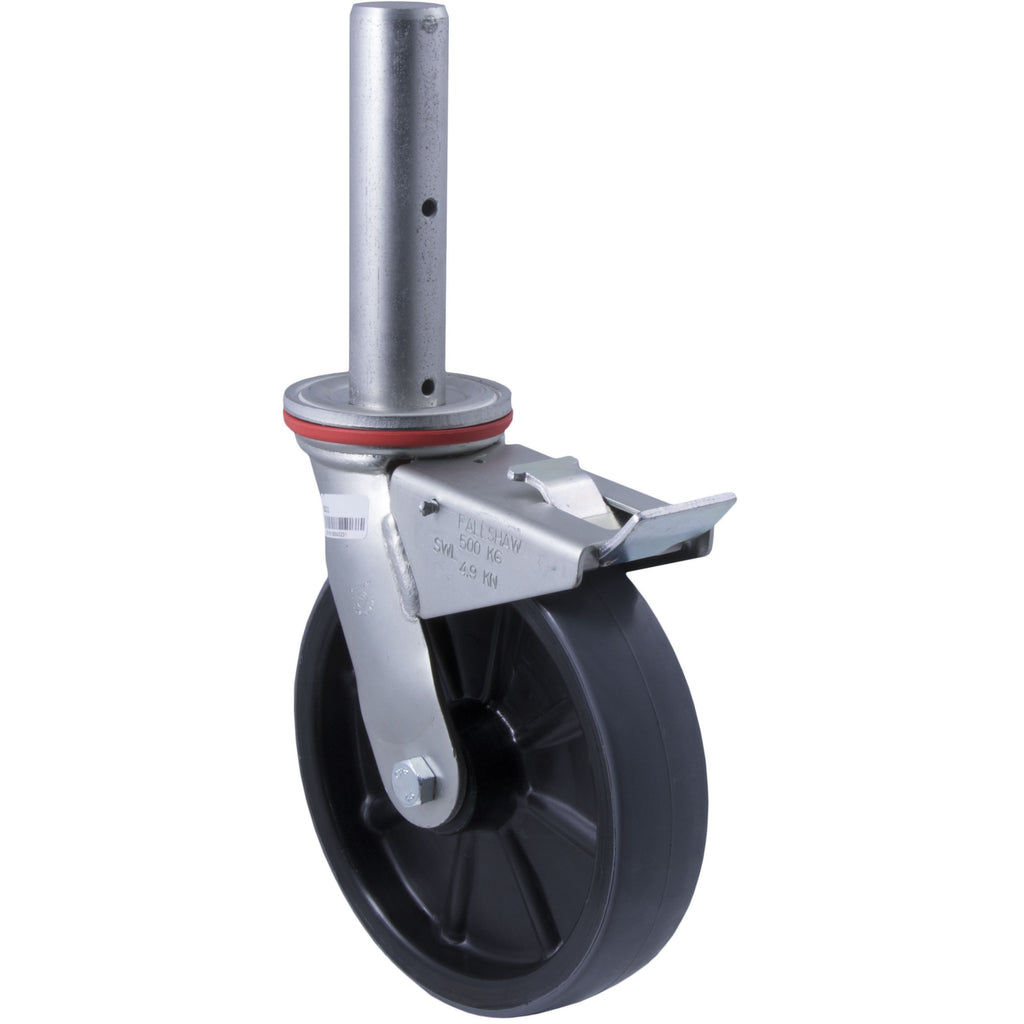 SC11 500 Kg Zinc Castor <span>Swivel Total Brake P/U on Nylon 200mm x 50mm</span>