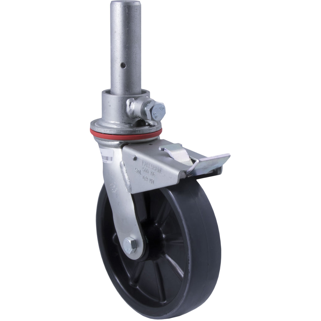 SC15 500 Kg Zinc Castor <span>Swivel Total Brake P/U on Nylon 200mm x 50mm</span>