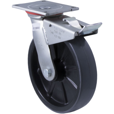 SC18 500 Kg Zinc Castor <span>Swivel Total Brake P/U on Nylon 200mm x 50mm</span>