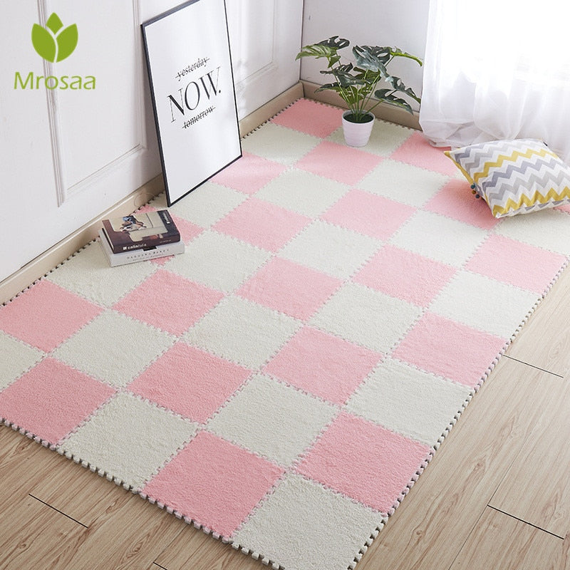 Patchwork Soft Carpet Mat 1pcs (30*30cm )