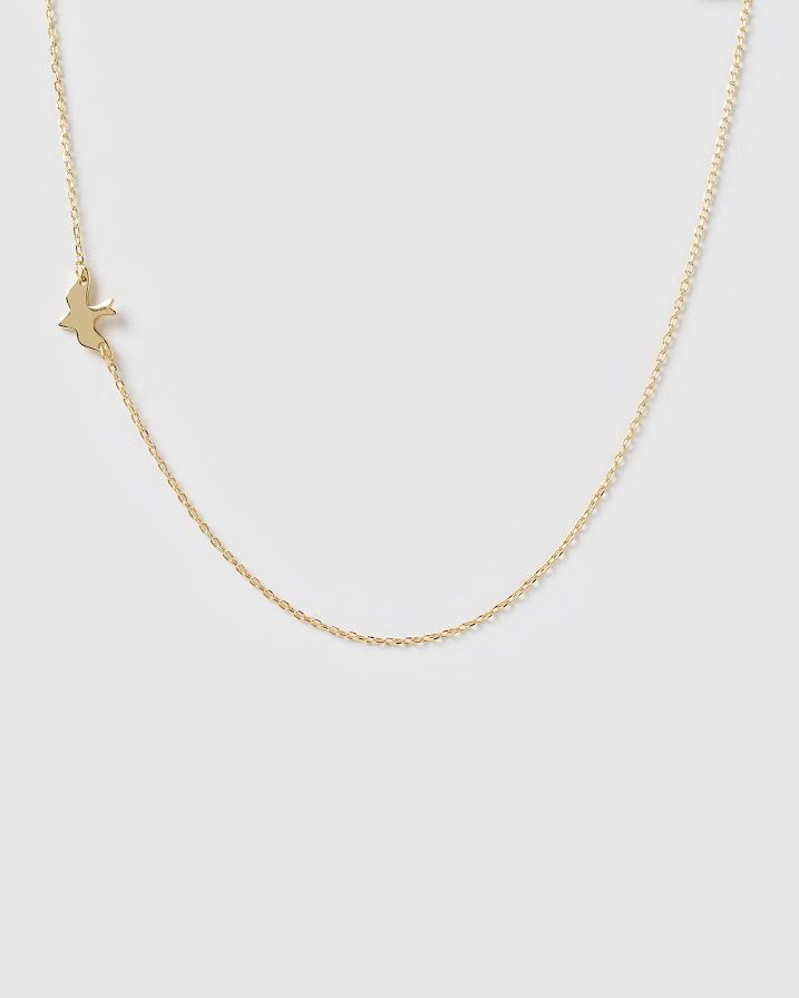 Izoa Dove Necklace Gold