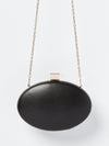 Izoa Caviar Clutch Black